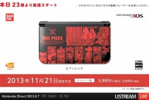 One Piece Unlimited World: Red 3DS XL Bundles Revealed