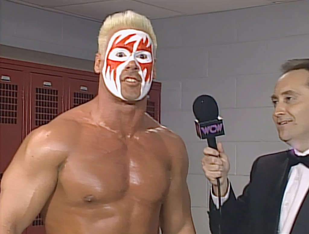 Wrestler sting without makeup