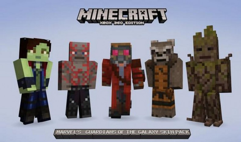 Guardians Of The Galaxy Minecraft Xbox 360 Edition