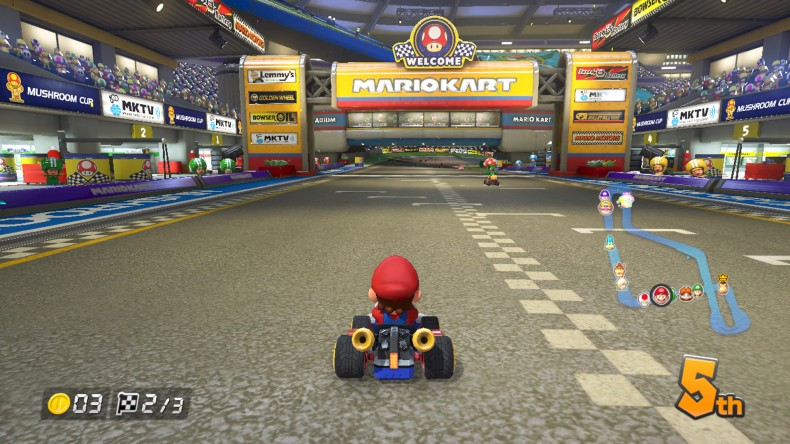 Mario Kart 8 On-Screen Map