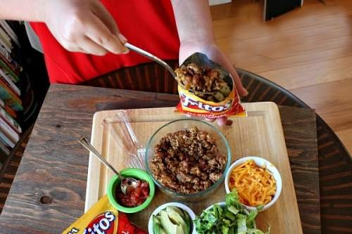 16. You want a quick snack on the go - Store everything in a pack and shake it up. Use fork and eat right out of it