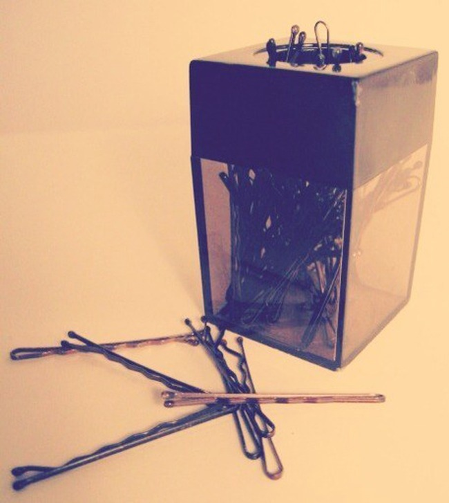 17. Magnetic paper clip holder is the berfect box for keeping your bobby pins