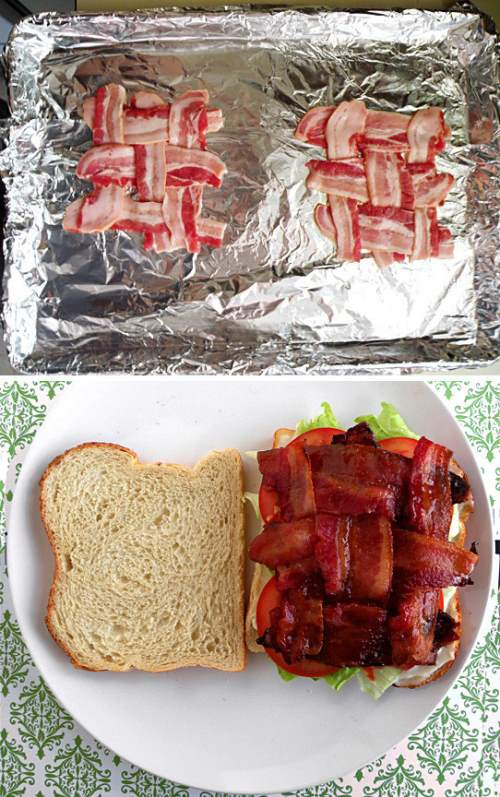 3. Make sure you have enough bacon to cover the whole side