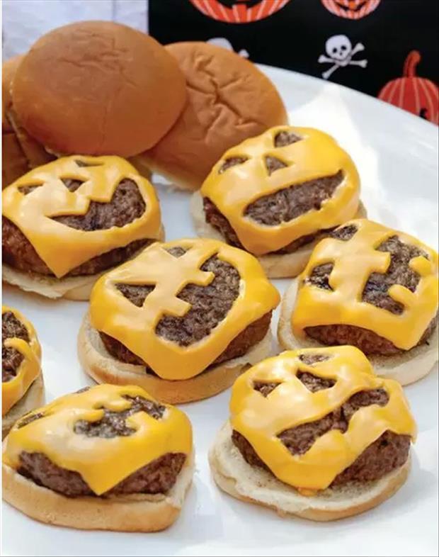 7. Halloween Hamburgers