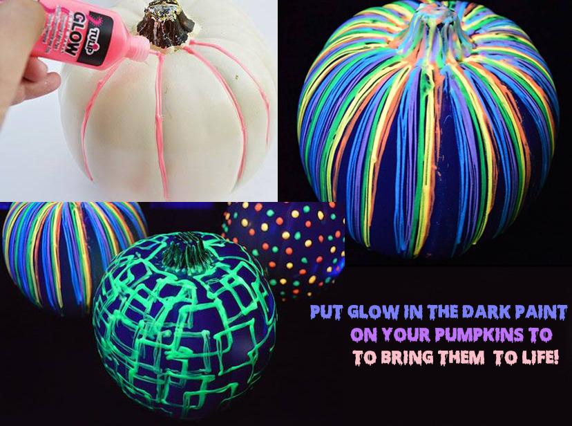 9. Glow in the dark pumpkins