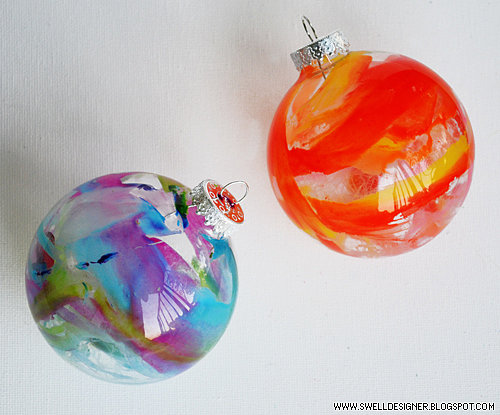 10. Melted Crayon Ornaments for perfect visual effect