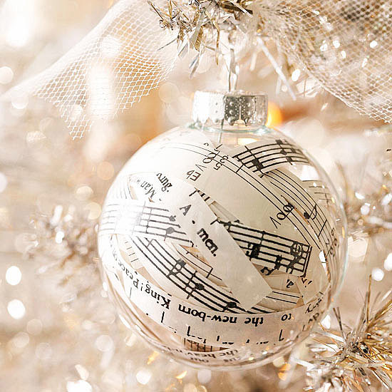 13. Music Ornaments because a tree can't last without music