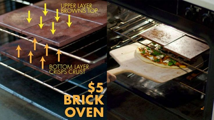 17. Home made brick oven for perfect taste