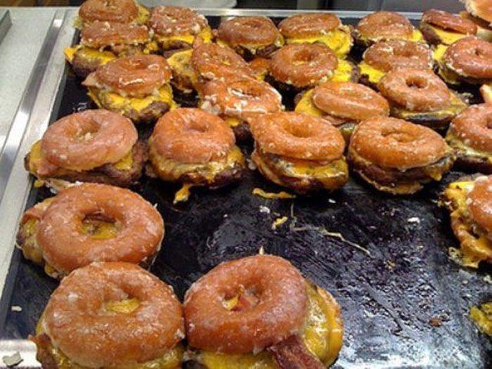19. Donut breakfast sandwich