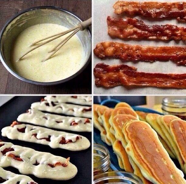 3. Bacon Pancakes