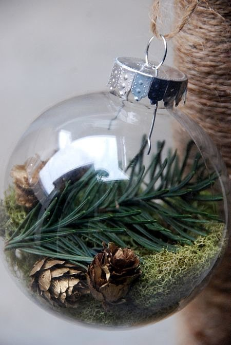 Terrarium Ornaments for giving your tree a spirit - Smart DIY Glass Ball Ornaments For This Christmas