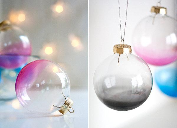 5. Ombre Ornaments