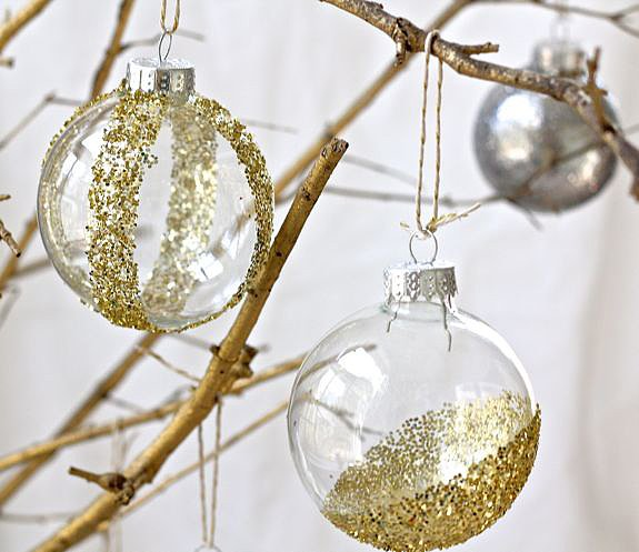 8. Glitter Ornaments for a spectacle