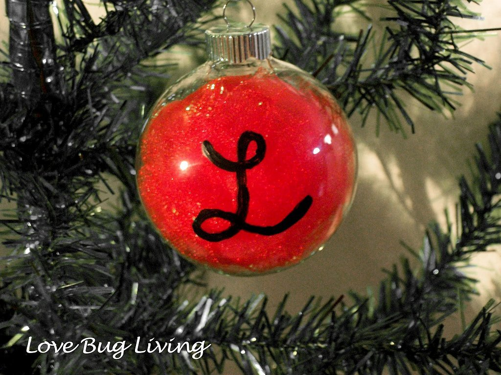 9. Monogrammed Ornaments that will make your family proud