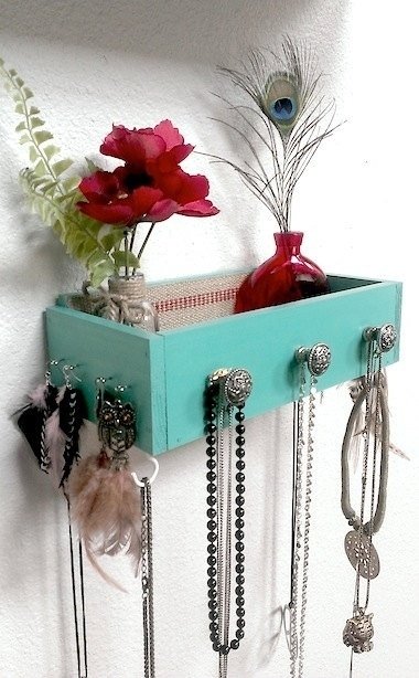 18. Your old drawers as decorative shelves