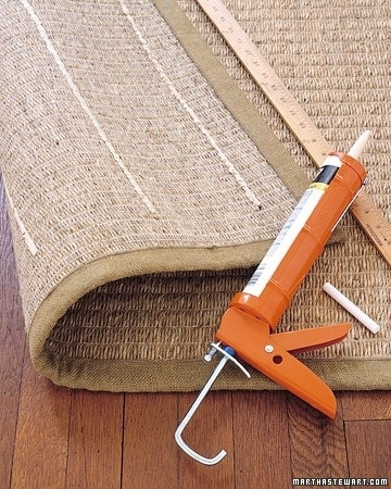 20. Acrylic-latex caulk will keep your rugs from slipping