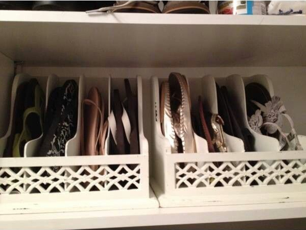 5. Use letter organizer for your flipflops