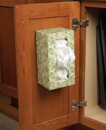 9. Tissue box as Plastic bag organizer