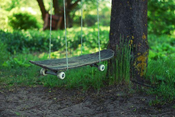 11. Skateboard swing