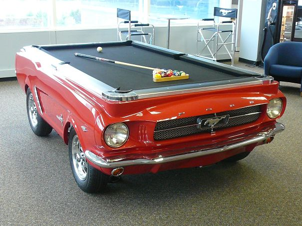 8. Old timer pool table