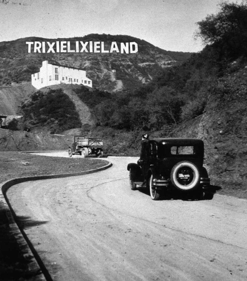 1923 - The Hollywood sign right after it was built.