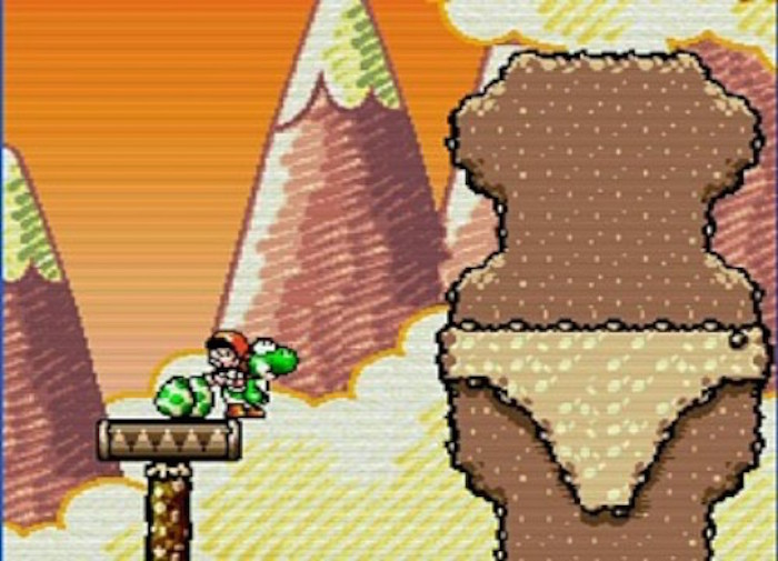 3. Yoshi's Island was a game about Baby Mario but that didn't stop developers from putting in some dirty jokes