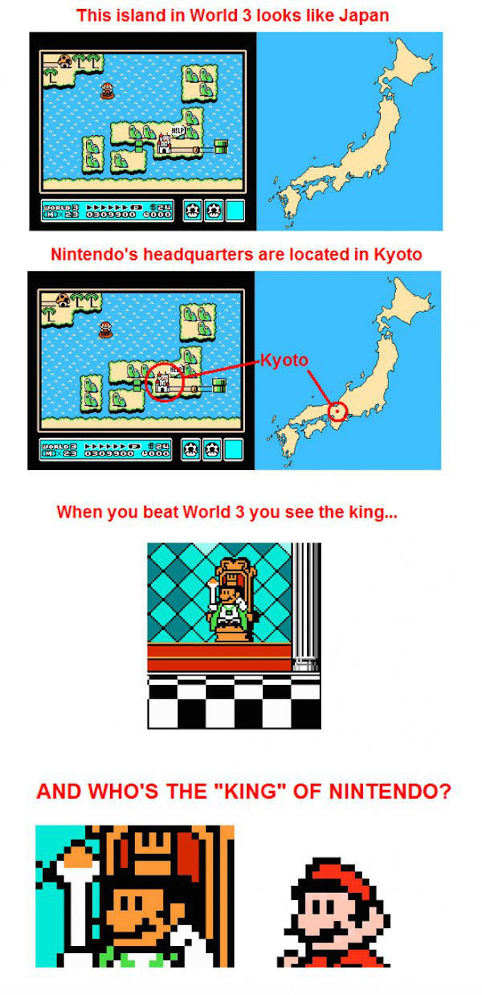 9. Nintendo likes to hide shapes in their levels seems like