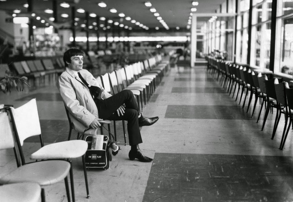 Jimmie Nicol, the almost-Beatle, waits for a plane, June 1964