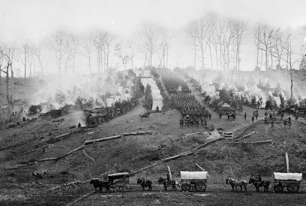 The camp of the 150th Pennsylvania Infantry, Belle Plain, Virginia, March 1863