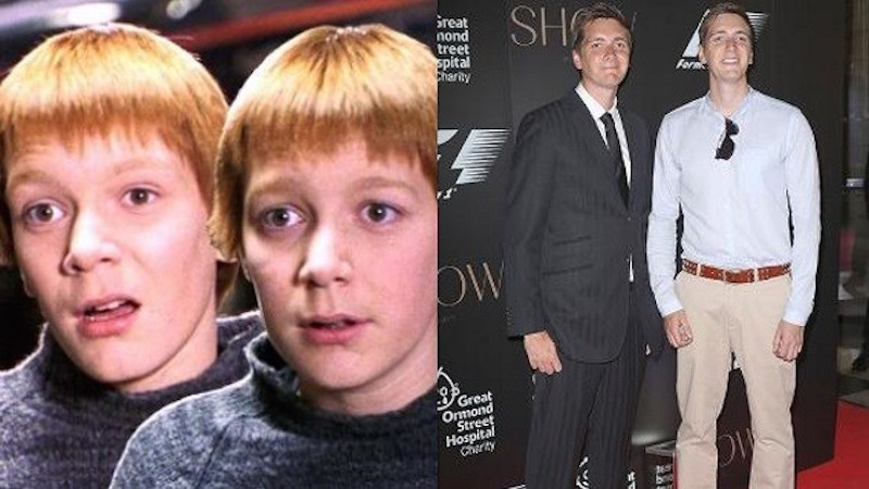 James and Oliver Phelps as Fred and George Weasley