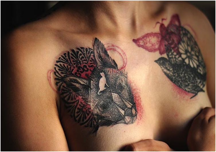 21 Tattoos That Cover The Scars From Surviving Breast Cancer