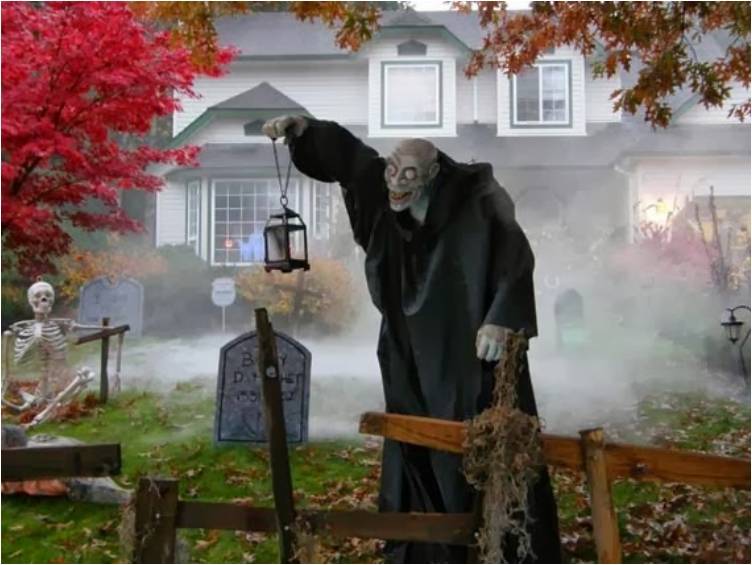 scary halloween yard decoration ideas homemade halloween decorations - Homemade Halloween House Decorations