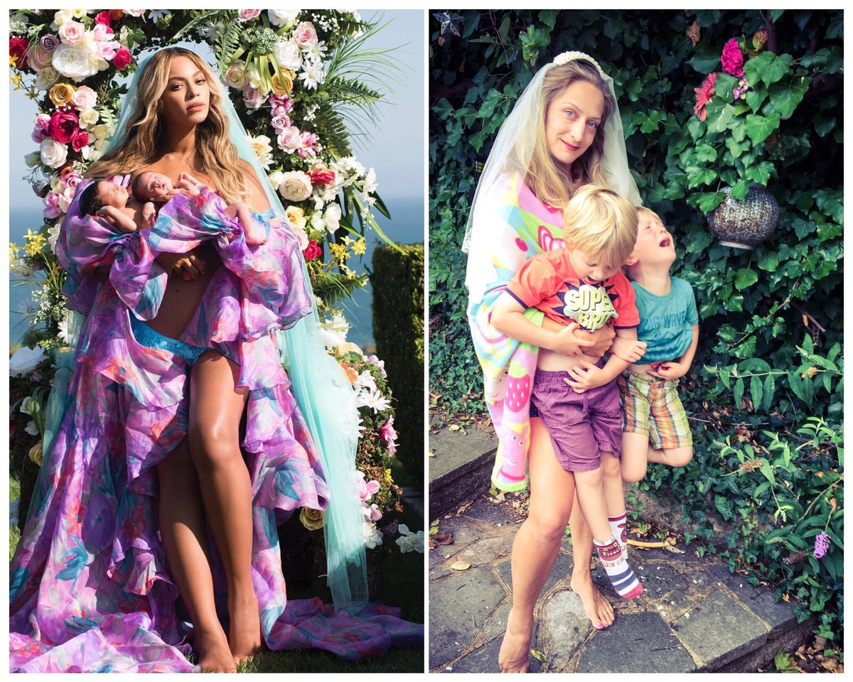 39 Hilarious Recreations Of Beyonce S Twin Reveal Pic