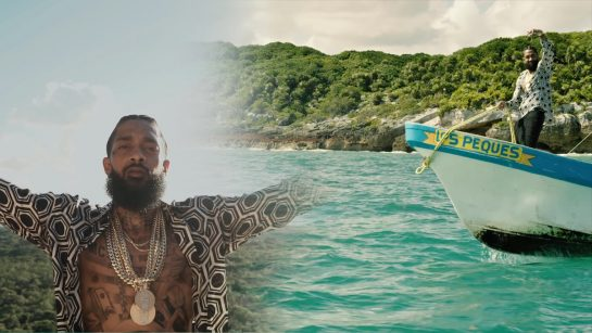 Nipsey Hussle in Tulum-Mexico for rap video, Victory Lap