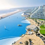 Aerial view of San Alfonso del Mar Swimming Pool and Apartments in Chile