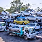 Trucks Hauling European cars into Australia